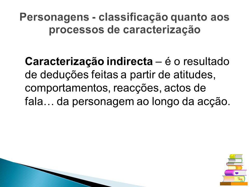 Personagens - classificação quanto aos processos de caracterização