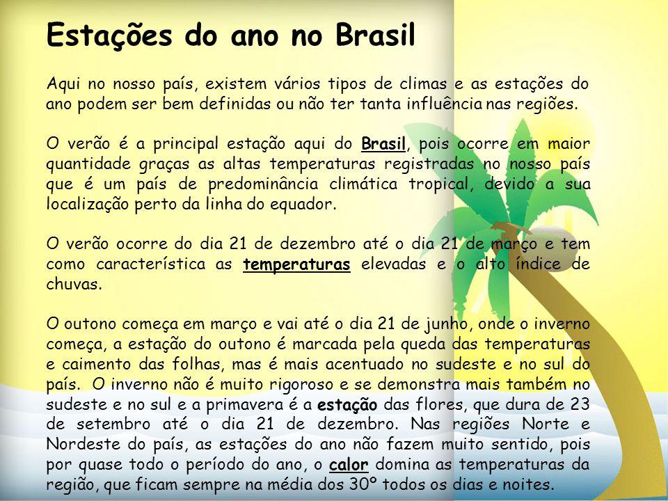 Estações do ano no Brasil