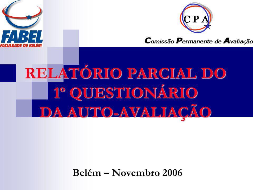 RELATÓRIO PARCIAL DO 1º QUESTIONÁRIO DA AUTO-AVALIAÇÃO