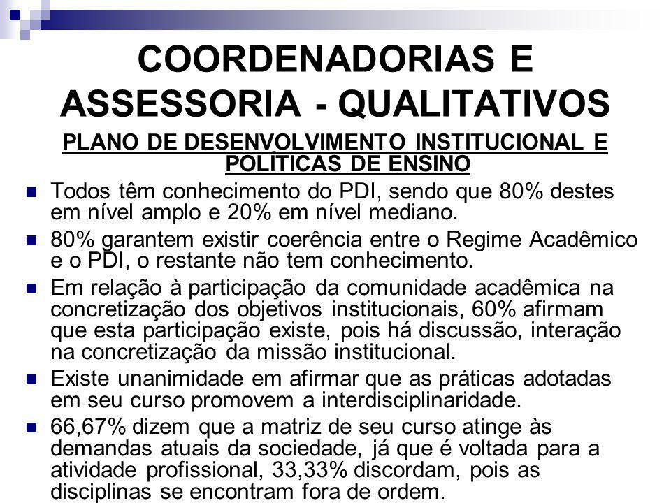 COORDENADORIAS E ASSESSORIA - QUALITATIVOS