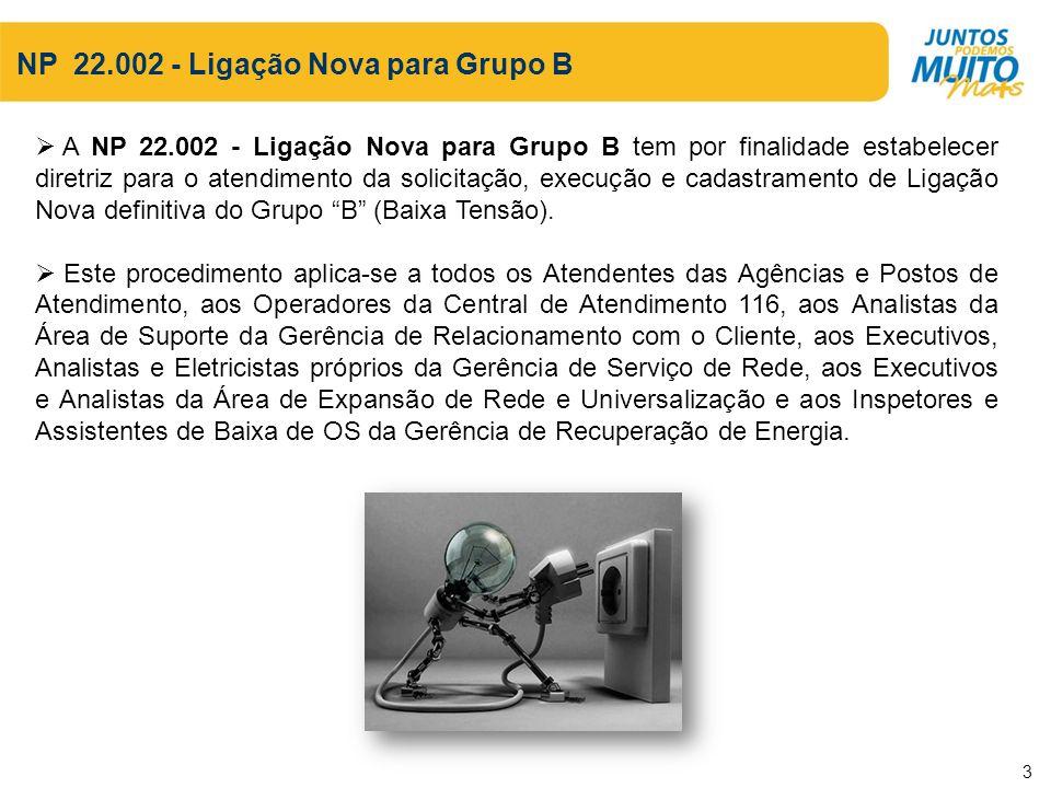 NP 22.002 - Ligação Nova para Grupo B