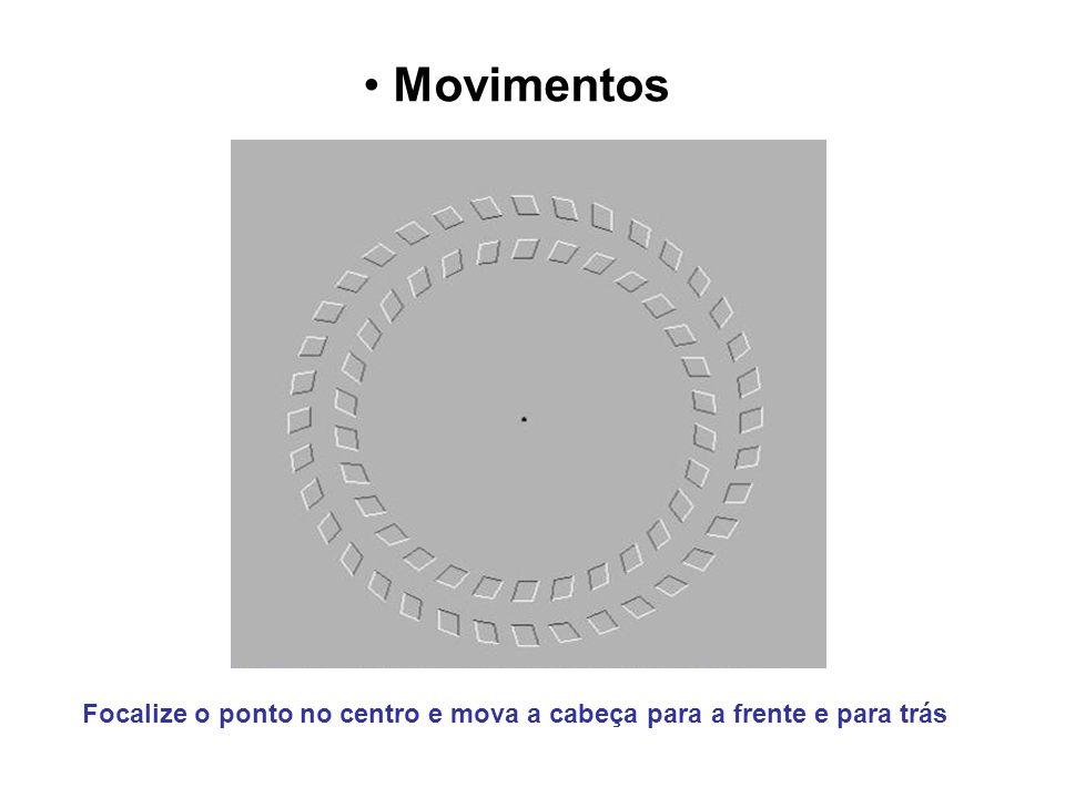 Movimentos Focalize o ponto no centro e mova a cabeça para a frente e para trás