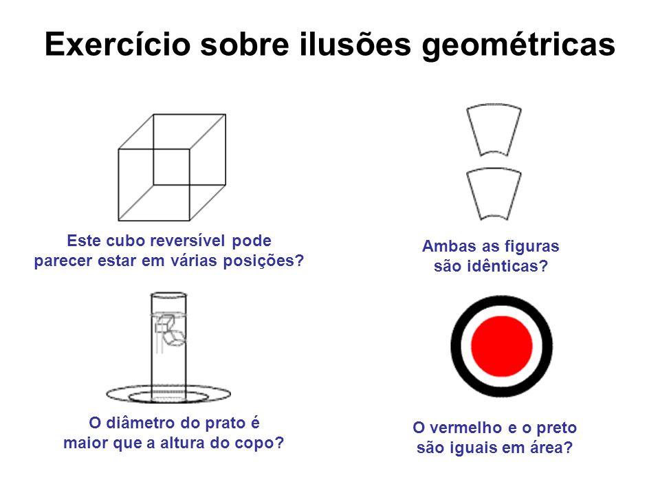 Exercício sobre ilusões geométricas