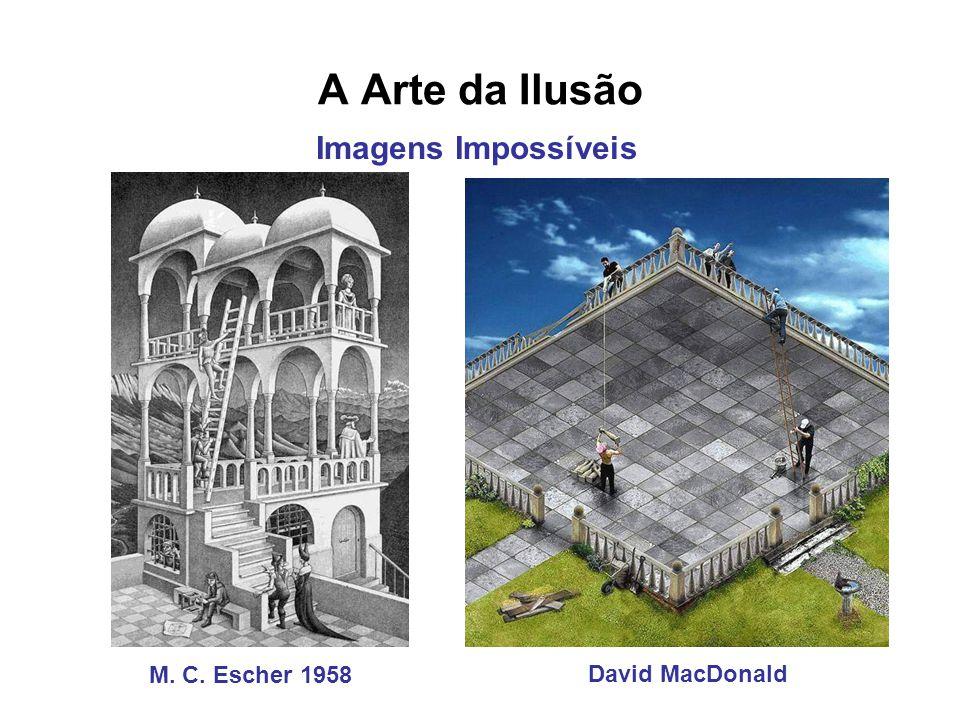 A Arte da Ilusão Imagens Impossíveis M. C. Escher 1958 David MacDonald