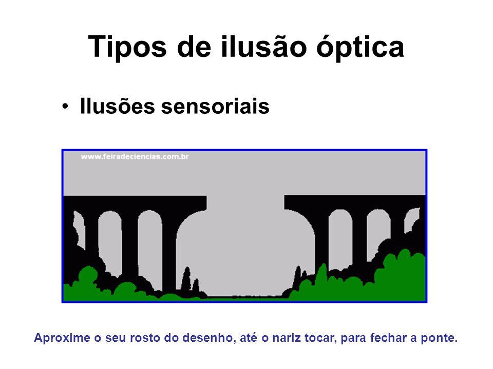 Tipos de ilusão óptica Ilusões sensoriais