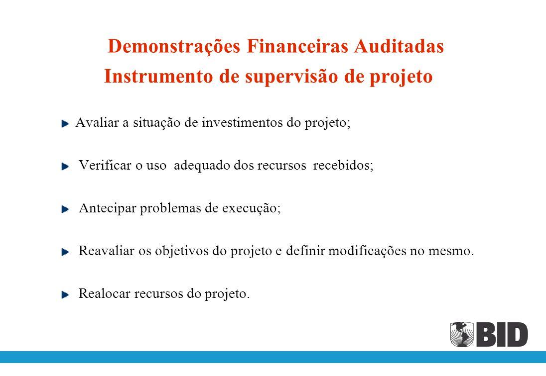Instrumento de supervisão de projeto
