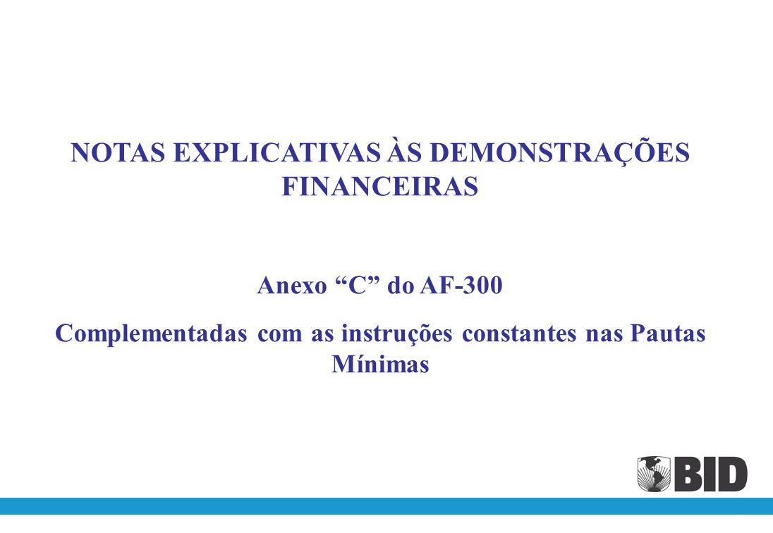 NOTAS EXPLICATIVAS ÀS DEMONSTRAÇÕES FINANCEIRAS