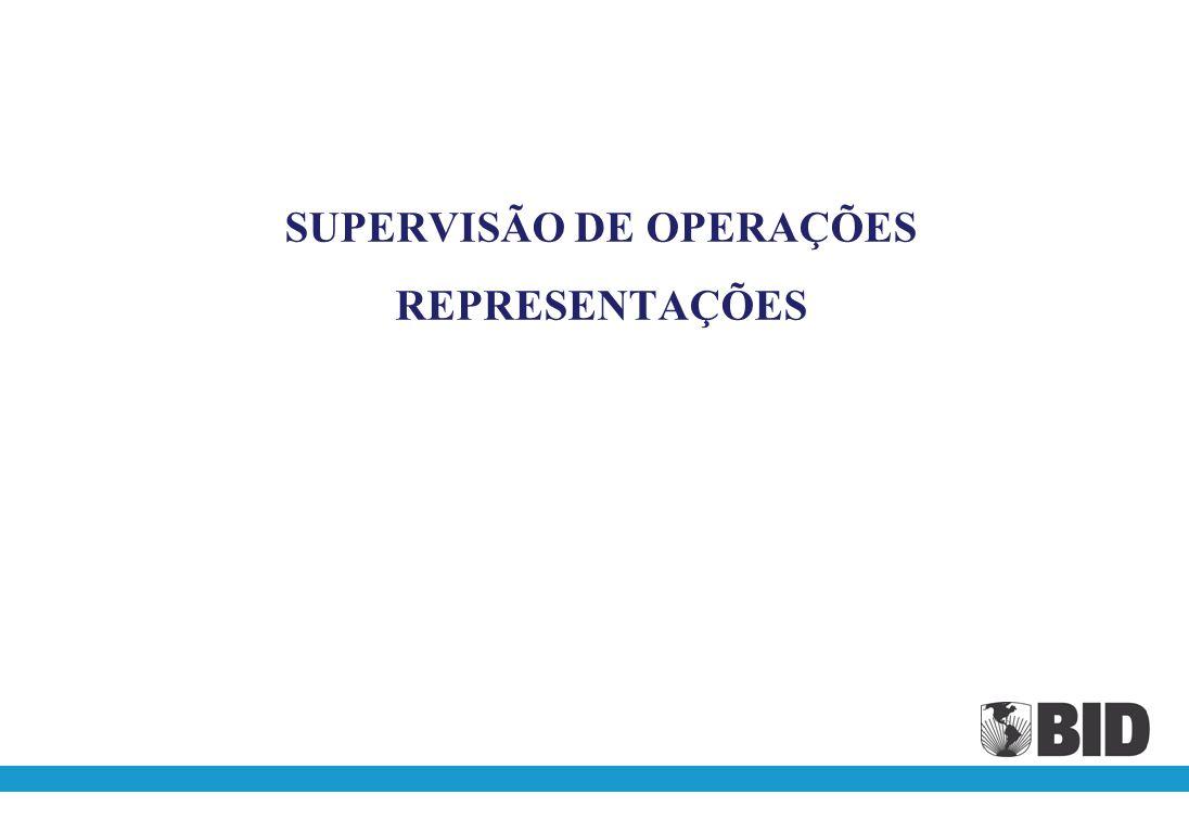 SUPERVISÃO DE OPERAÇÕES REPRESENTAÇÕES