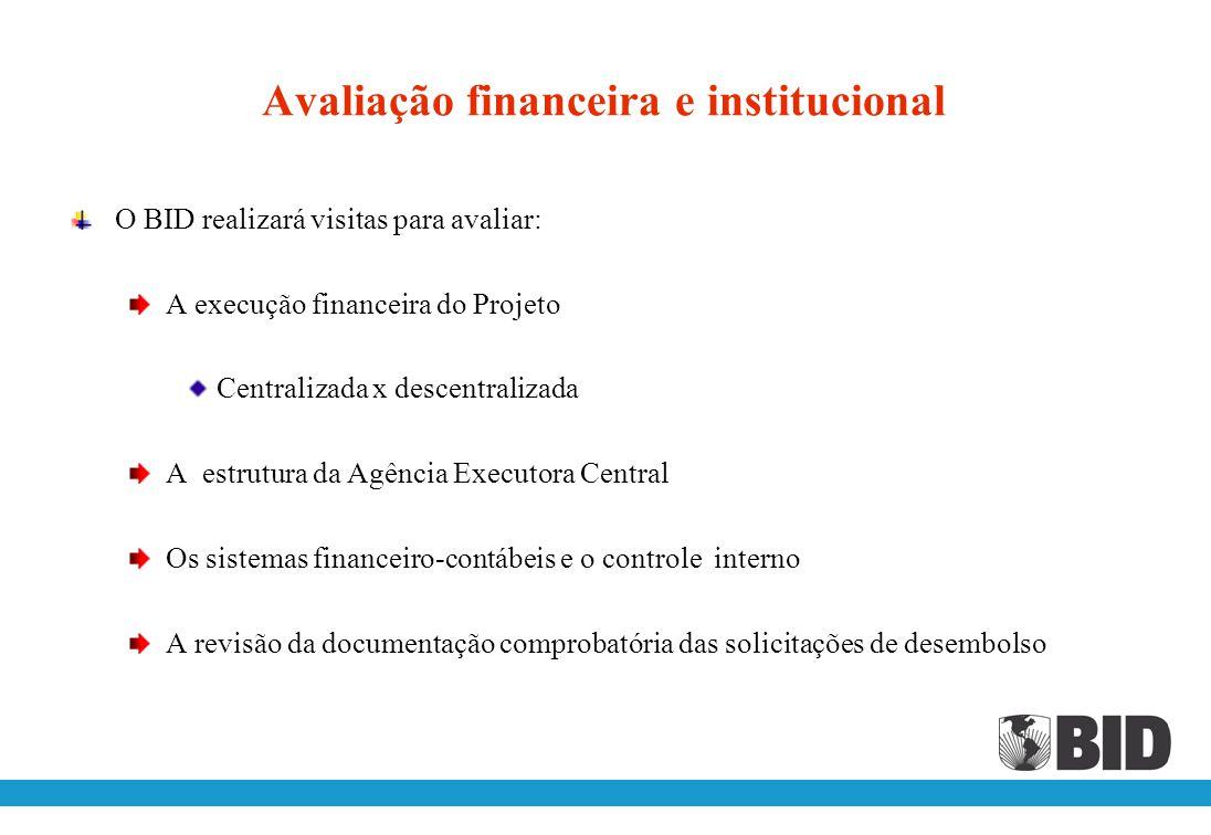 Avaliação financeira e institucional