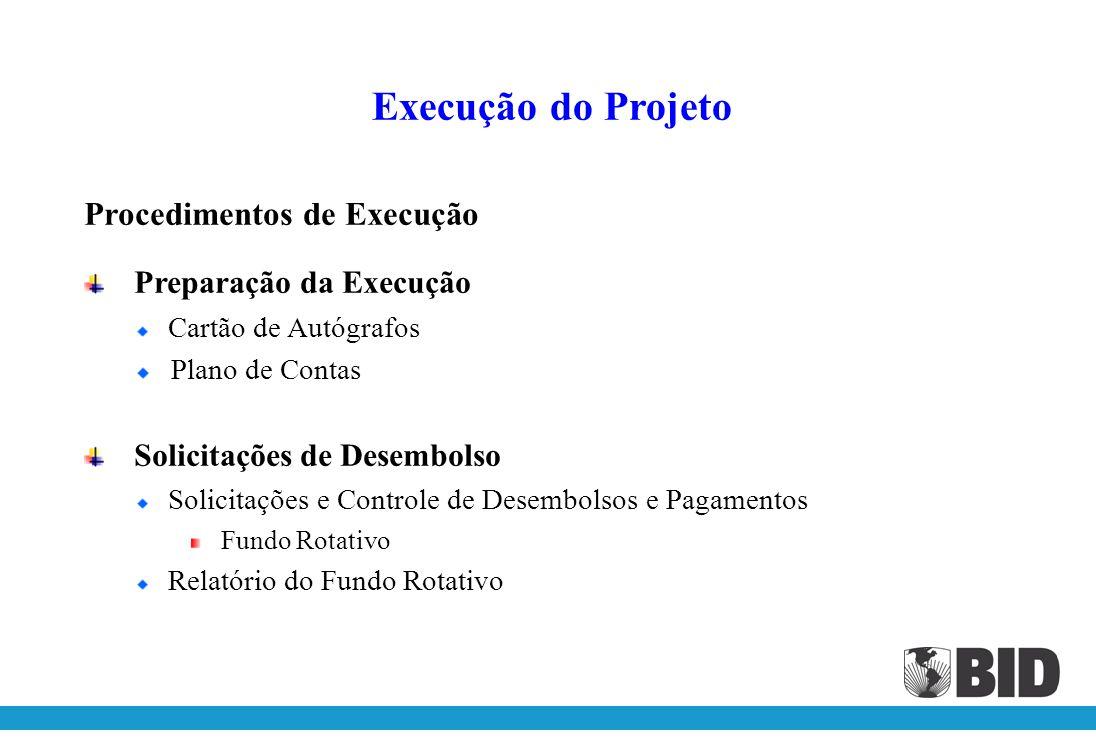 Execução do Projeto Procedimentos de Execução Preparação da Execução