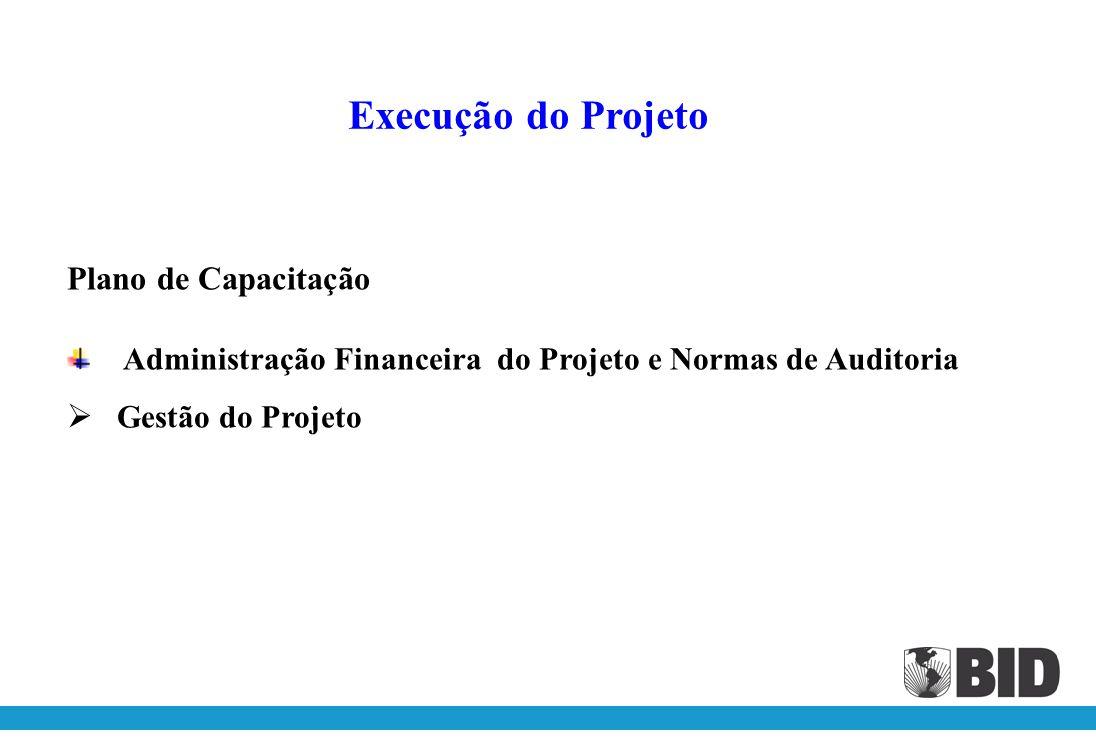 Execução do Projeto Plano de Capacitação