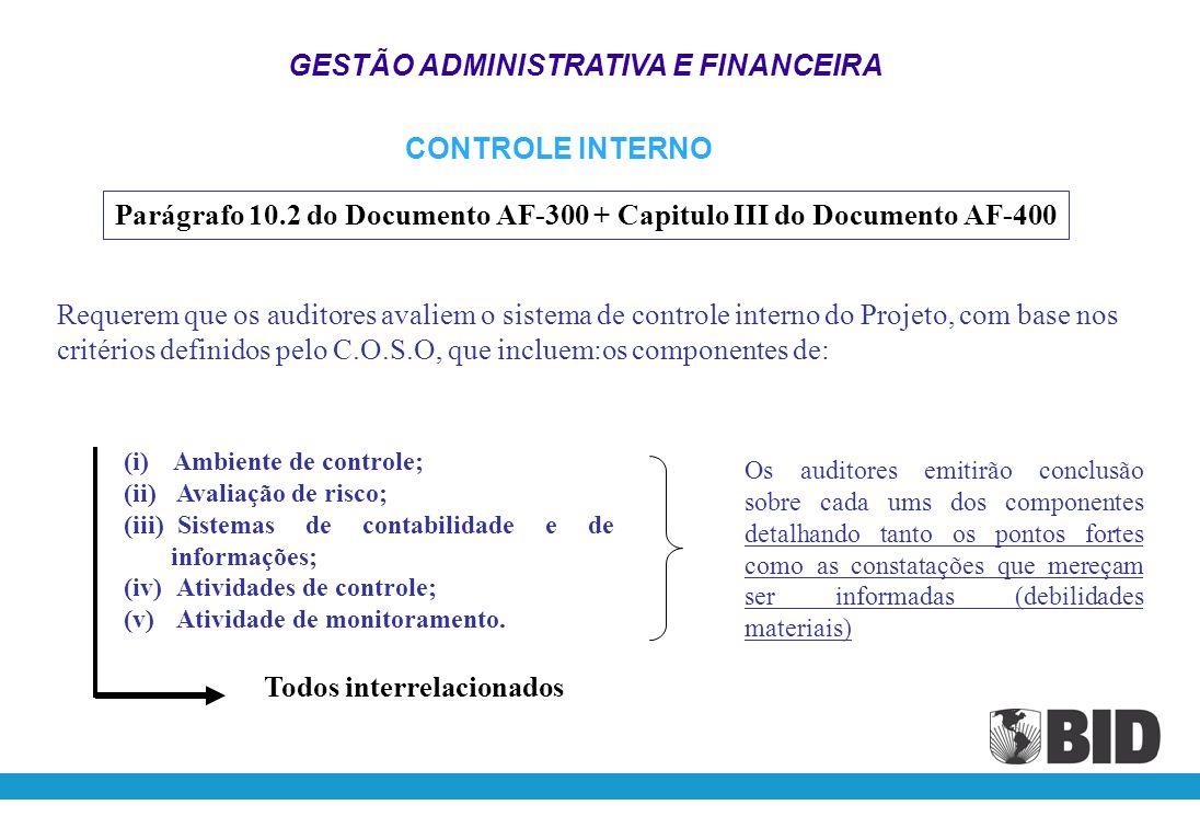 GESTÃO ADMINISTRATIVA E FINANCEIRA
