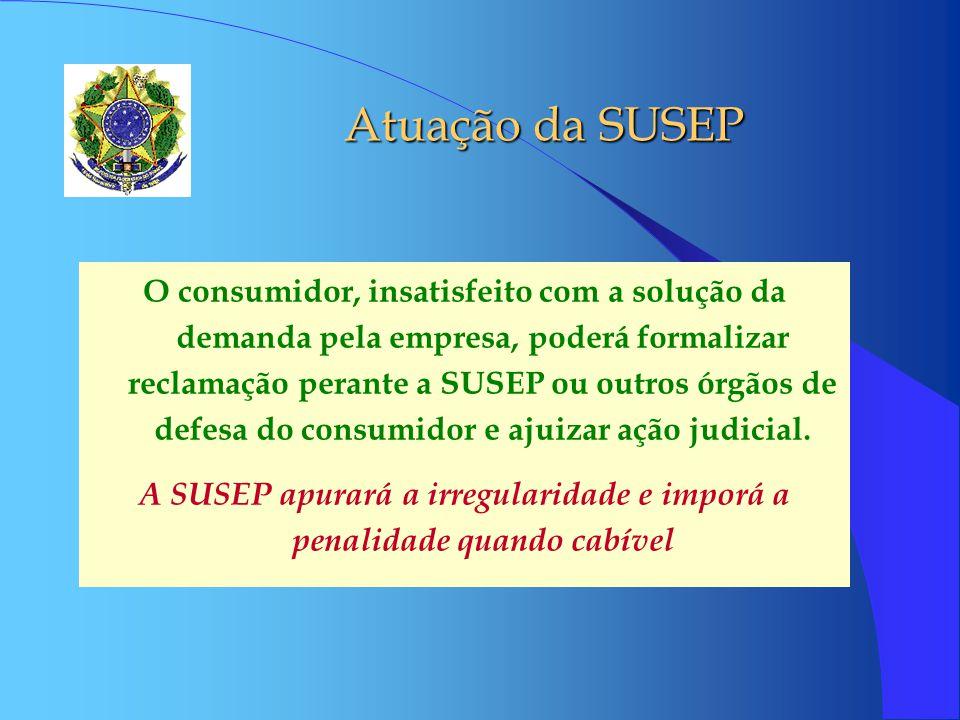 A SUSEP apurará a irregularidade e imporá a penalidade quando cabível