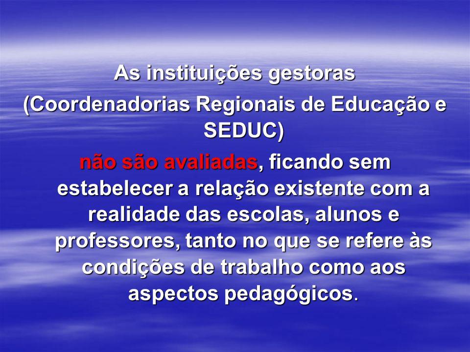 As instituições gestoras