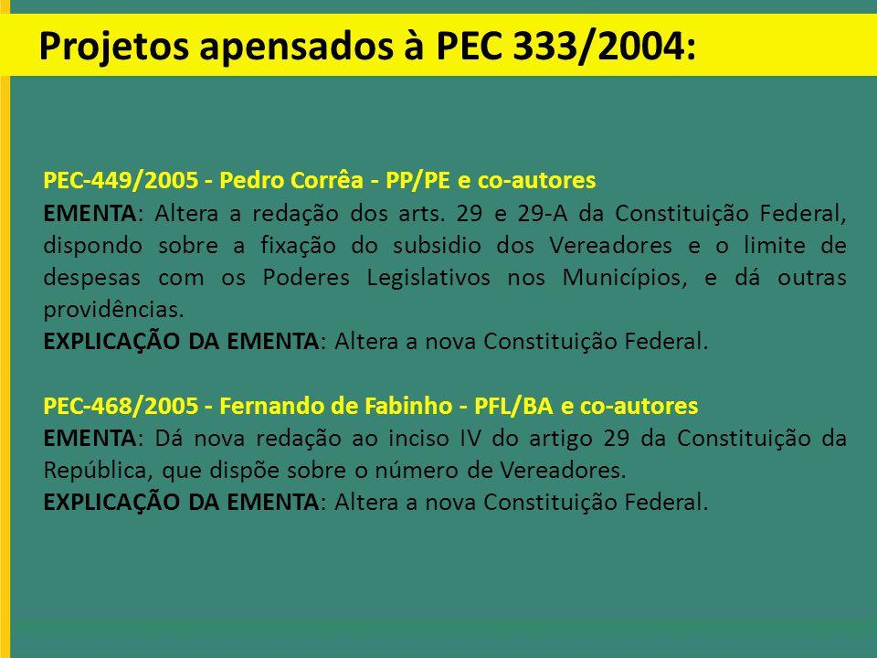 Projetos apensados à PEC 333/2004: