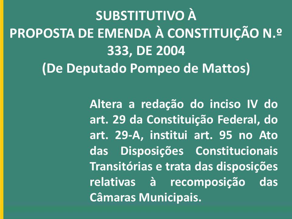 SUBSTITUTIVO À PROPOSTA DE EMENDA À CONSTITUIÇÃO N