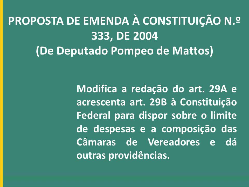 PROPOSTA DE EMENDA À CONSTITUIÇÃO N