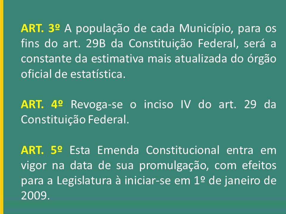 ART. 3º A população de cada Município, para os fins do art