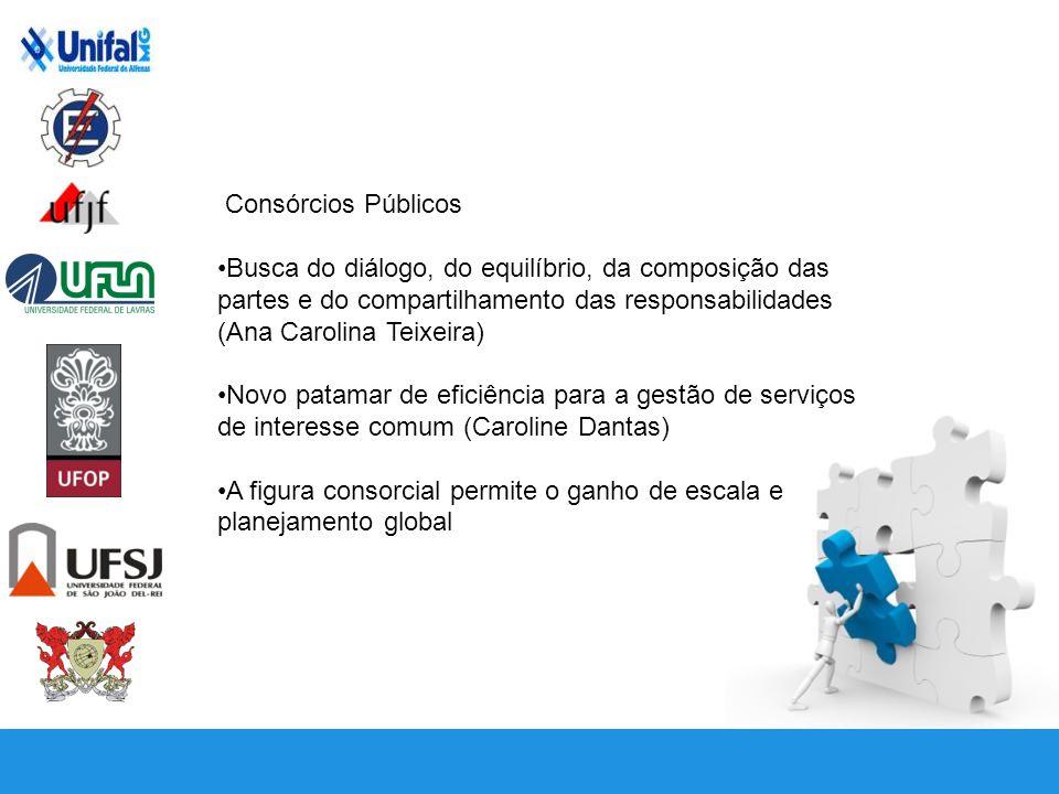 Consórcios Públicos Busca do diálogo, do equilíbrio, da composição das partes e do compartilhamento das responsabilidades (Ana Carolina Teixeira)