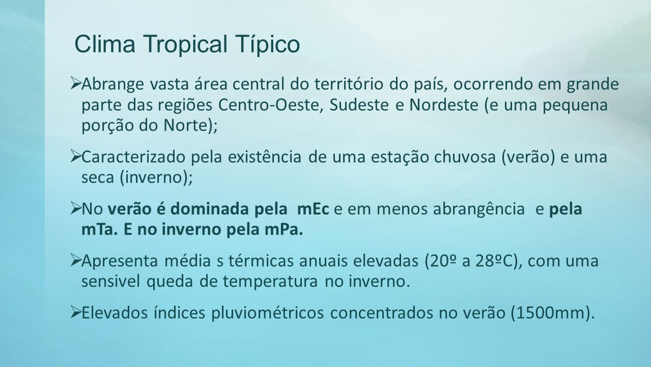 Clima Tropical Típico