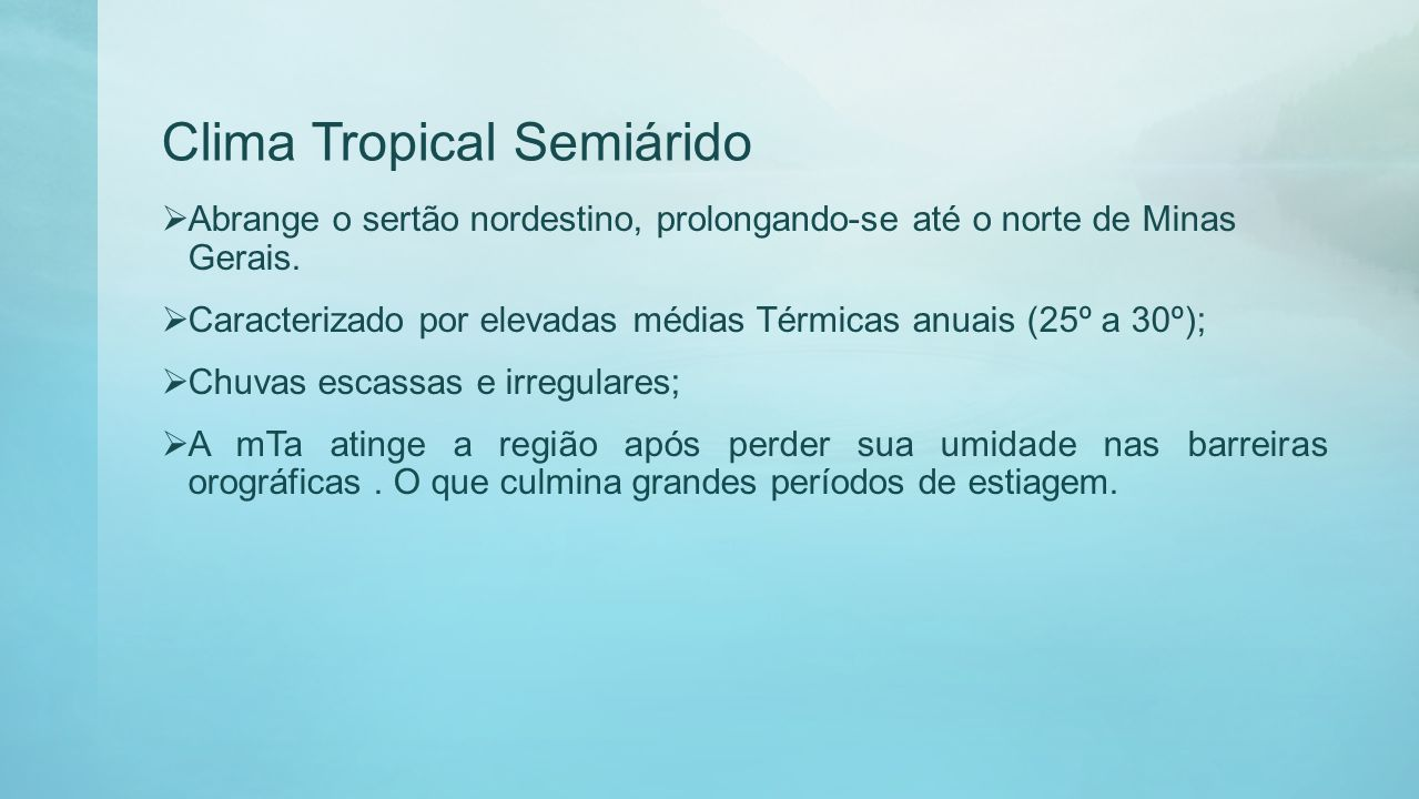 Clima Tropical Semiárido