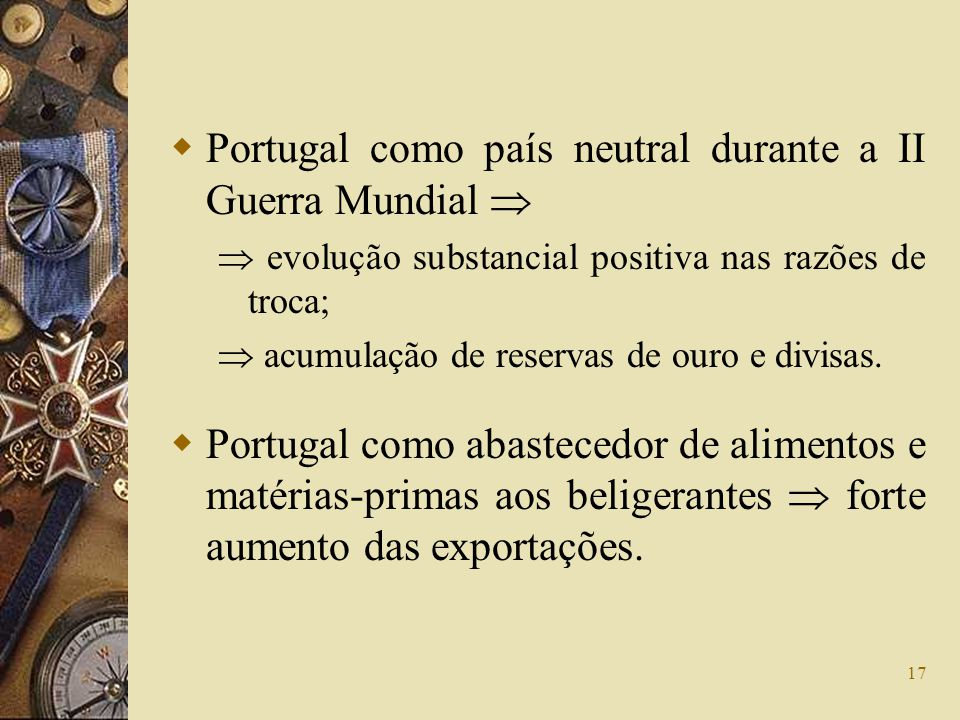 Portugal como país neutral durante a II Guerra Mundial 