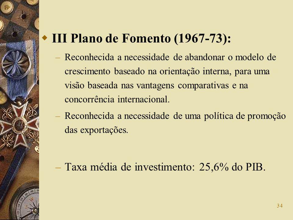 III Plano de Fomento (1967-73):
