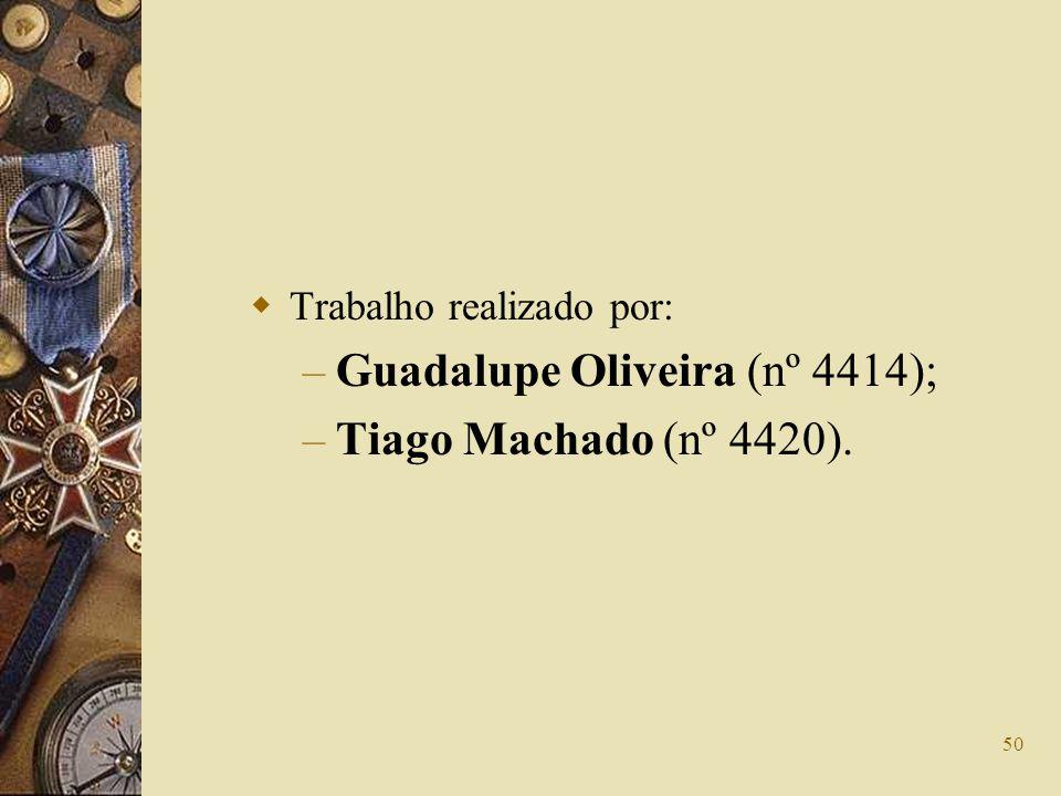 Guadalupe Oliveira (nº 4414); Tiago Machado (nº 4420).