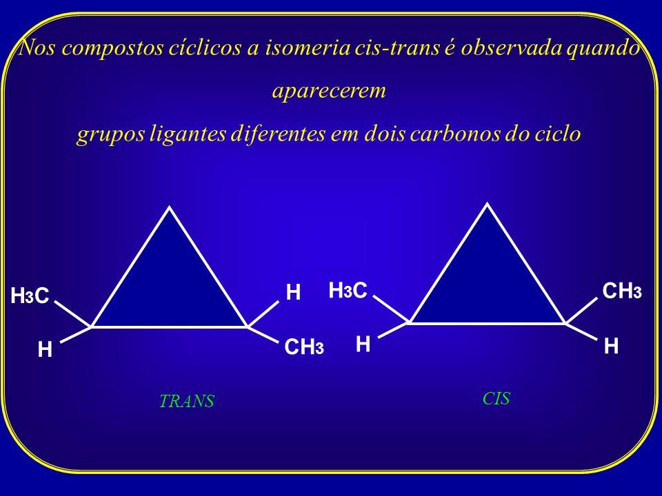 grupos ligantes diferentes em dois carbonos do ciclo