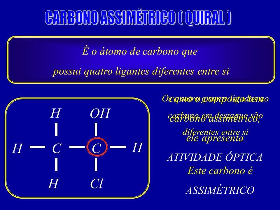 CARBONO ASSIMÉTRICO ( QUIRAL )