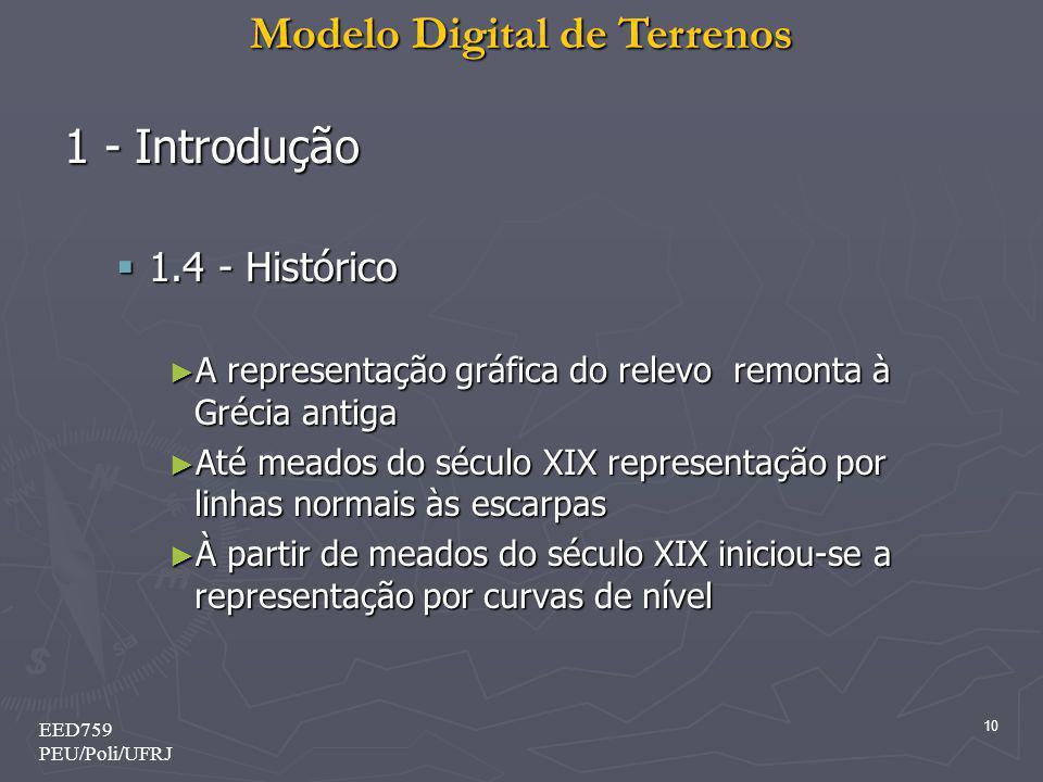 1 - Introdução 1.4 - Histórico