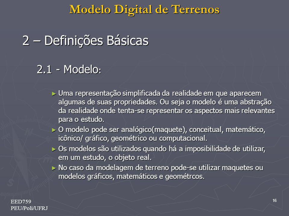 2 – Definições Básicas 2.1 - Modelo: