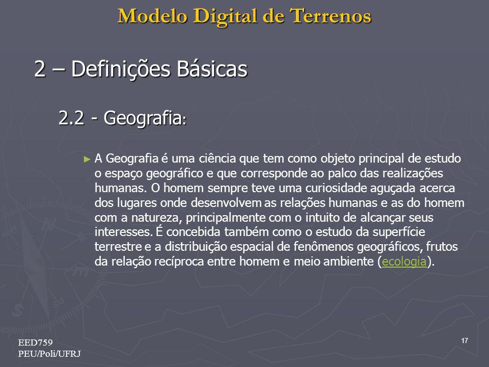2 – Definições Básicas 2.2 - Geografia: