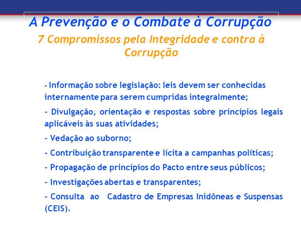 7 Compromissos pela Integridade e contra à Corrupção