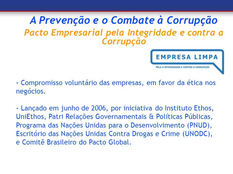 A Prevenção e o Combate à Corrupção