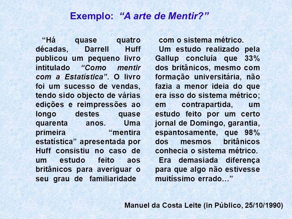 Exemplo: A arte de Mentir