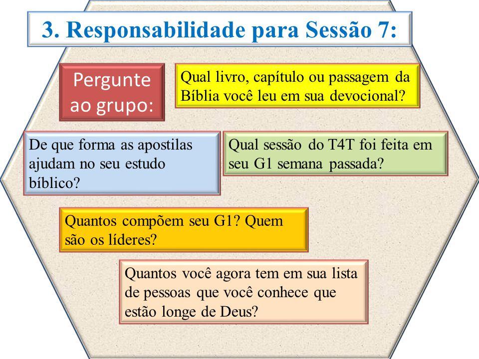 3. Responsabilidade para Sessão 7: