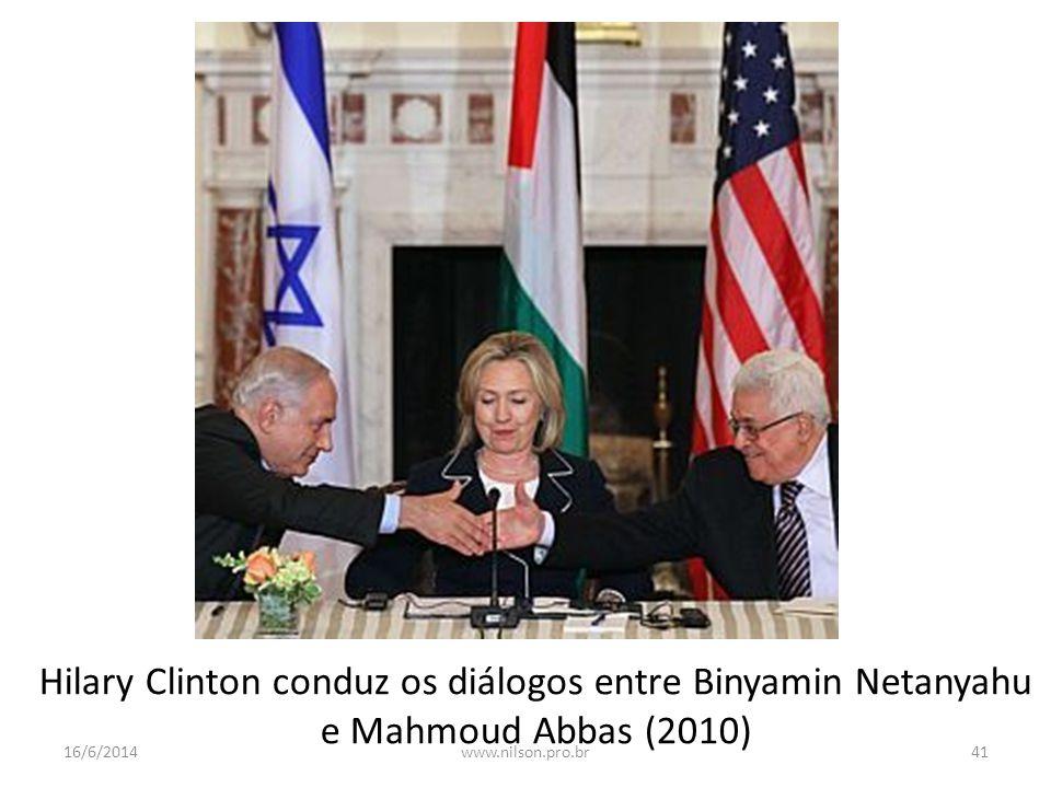 Hilary Clinton conduz os diálogos entre Binyamin Netanyahu e Mahmoud Abbas (2010)