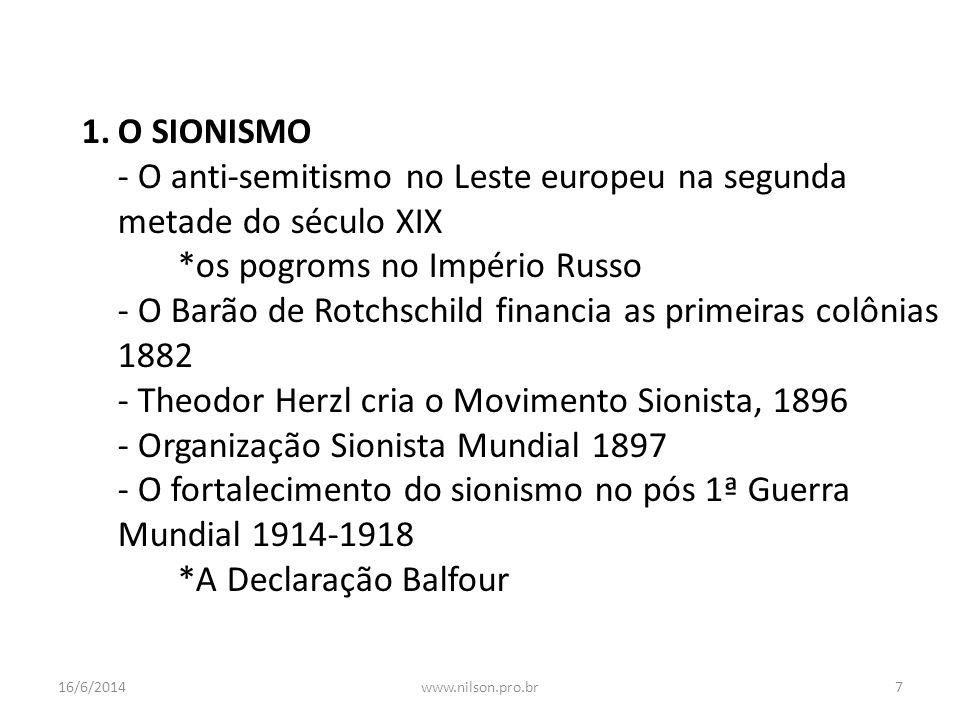 - O anti-semitismo no Leste europeu na segunda metade do século XIX