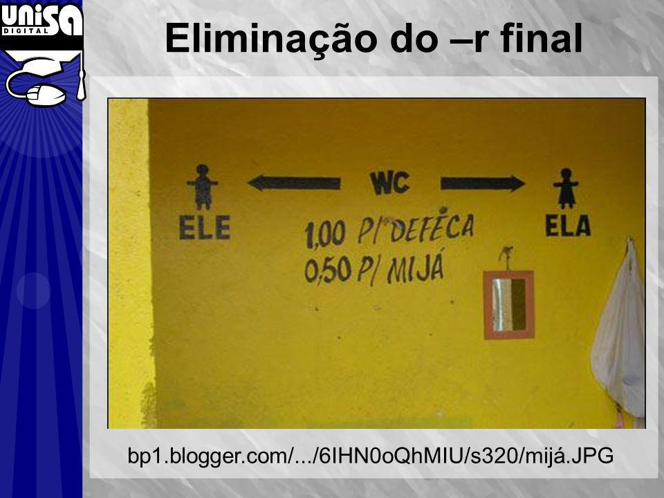 Eliminação do –r final bp1.blogger.com/.../6IHN0oQhMIU/s320/mijá.JPG