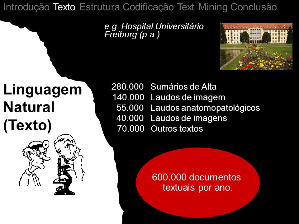 600.000 documentos textuais por ano.