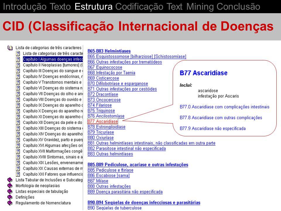 CID (Classificação Internacional de Doenças
