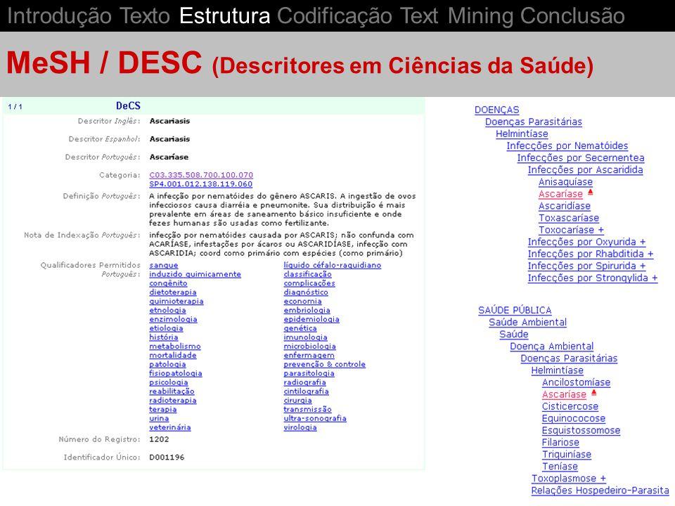 MeSH / DESC (Descritores em Ciências da Saúde)