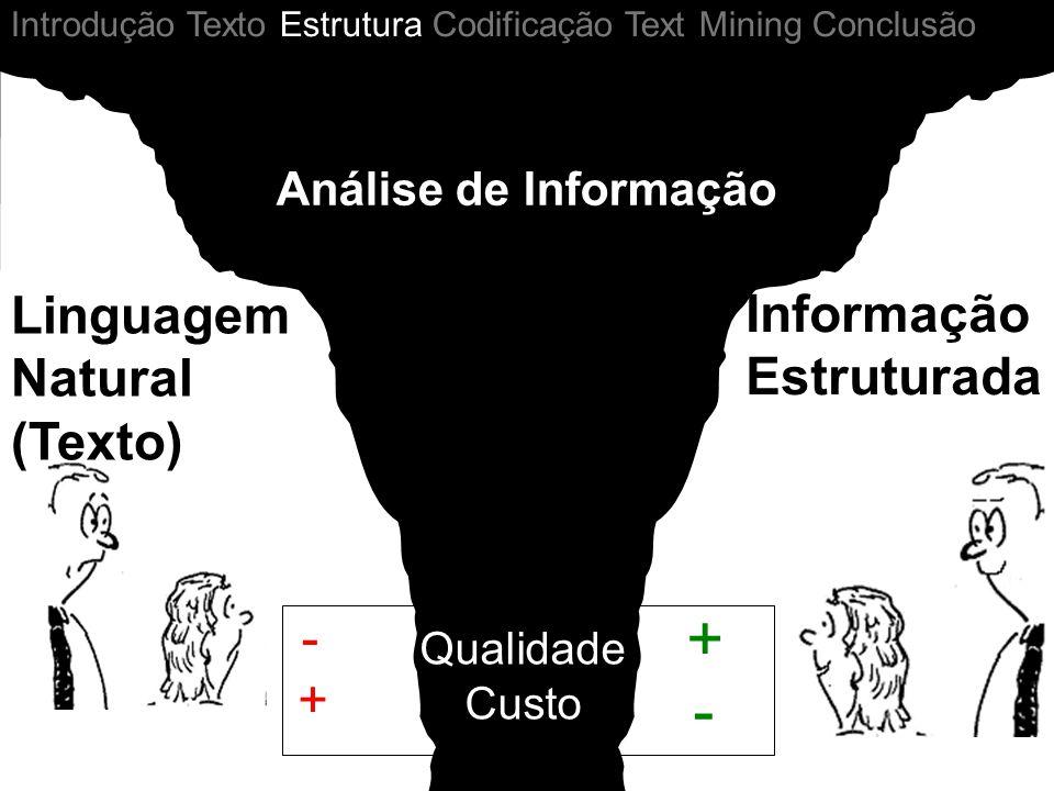 + - Linguagem Natural (Texto) Informação Estruturada - +
