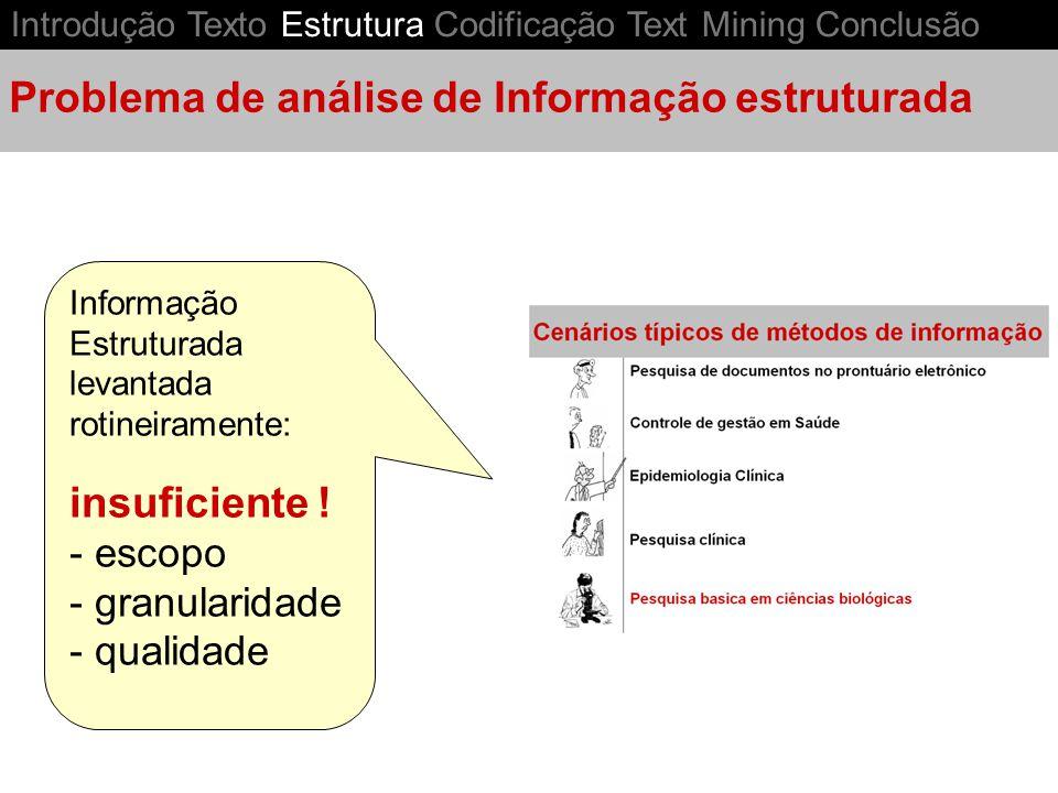 Problema de análise de Informação estruturada