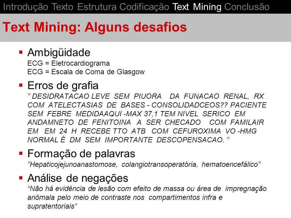 Text Mining: Alguns desafios