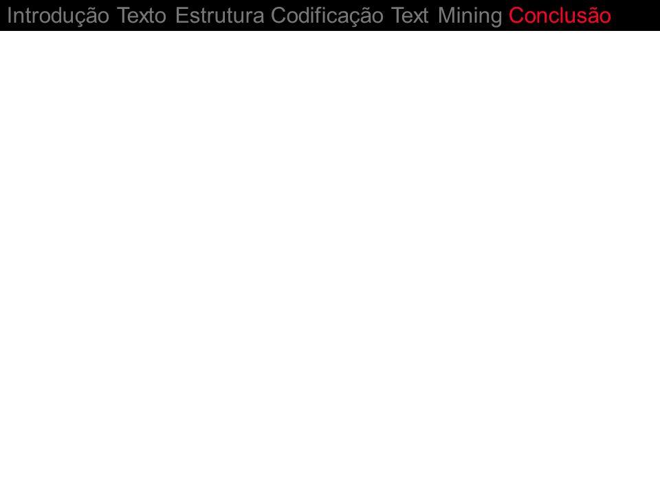 Introdução Texto Estrutura Codificação Text Mining Conclusão