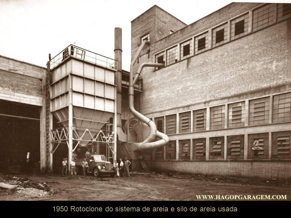 1950 Rotoclone do sistema de areia e silo de areia usada