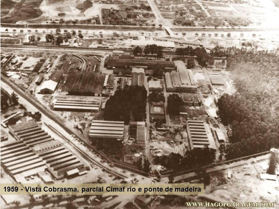 1959 - Vista Cobrasma, parcial Cimaf rio e ponte de madeira