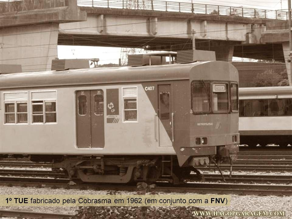 1º TUE fabricado pela Cobrasma em 1962 (em conjunto com a FNV)